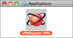 Drag the VPNReactor icon to your Applications folder